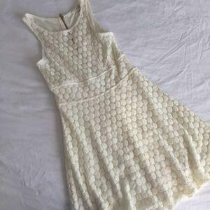 White Polka Dot Charming Charlie Dress